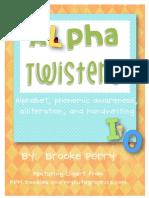 alpha twisters alphabet activities