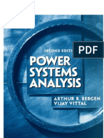 Arthur R. Bergen, Vijay Vittal Power Systems Analysis [OCR]