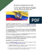 26 de Septiembre Día de La Bandera Del Ecuador