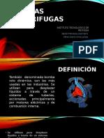 Bombas Centrifugas Presentación