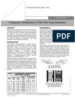 Frequency Response of Thin Film Chip Resistors