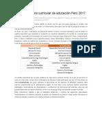 Nuevo Programa Curricular de Educación Perú 2017