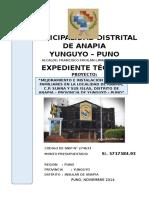 Expediente Técnico Municipalidad Distrital de Anapia