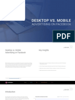 Desktop vs Mobile on Facebook