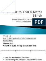 autumn week 7 fractions and division