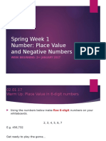 week 1- place value and negative numbers