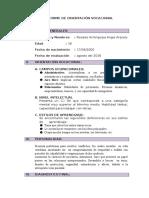 Informe de Orientación Vocacional Anguie