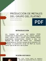Producción de Metales Del Grupo Del Platino