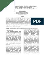 Jurnal Optimisasi Konfigurasi Jaringan Distribusi Dengan Integrasi Pembangkit Tersebar Energi Terbarukan Berbasis Algoritma Cerdas Clonal Selection Immune SYstem