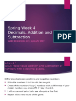 week 4- decimals addition and subtraction