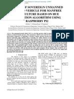 DESIGN OF SOVEREIGN UNMANNED GROUND VEHICLE FOR MANFREE AGRICULTURE BASED ON HUE NAVIGATION ALGORITHM USING RASPBERRY PI2