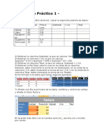 Practicas de Excel Bachillerato
