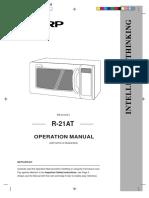 Manual de Servicio Horno de Microondas Sharp r21at-002