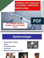 PPT_Intoxicaciones Por Drogas Ilicitas-Cocaina, Opiaceos y Marihuana ZABALLOS