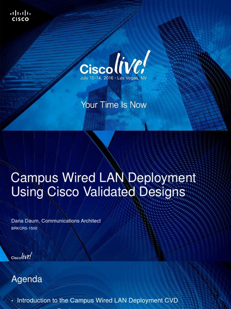 Campus Wired LAN Deployment Using CVD   Ip Address   Network Switch
