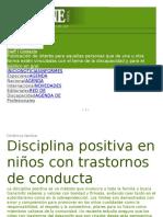 Artic de Disciplina Positiva en Trastorns d Conducta b