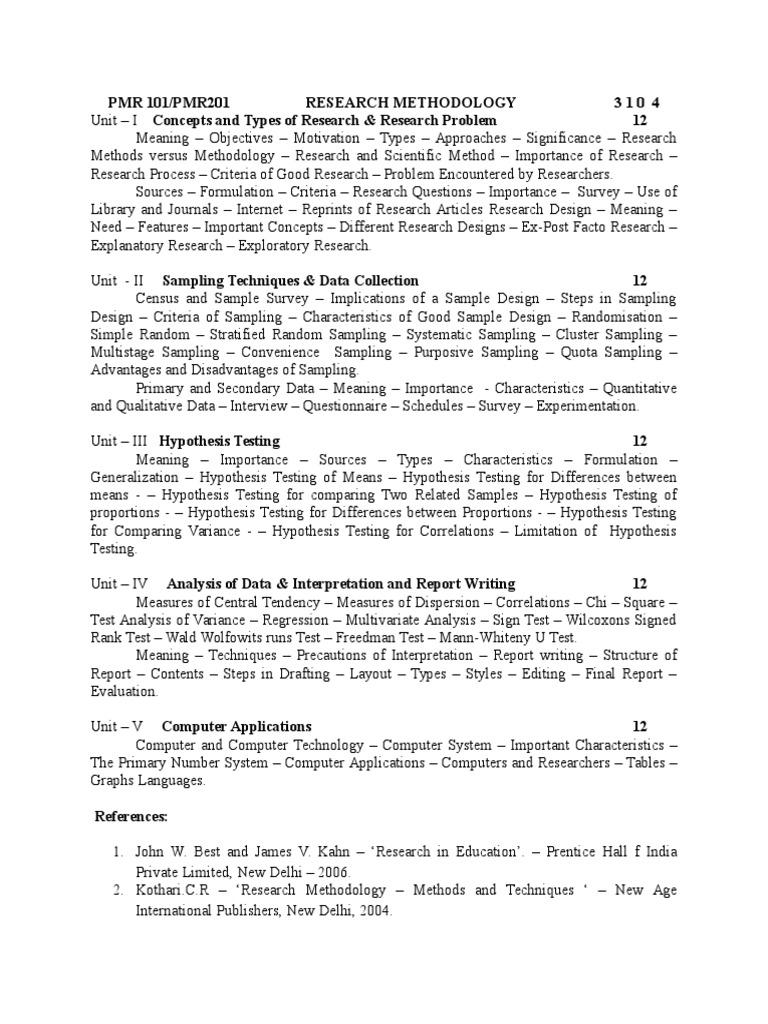 Paper 1Research Methodology | Sampling (Statistics) | Survey Methodology