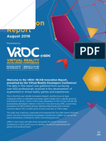 VR AR Innovation Report August 2016