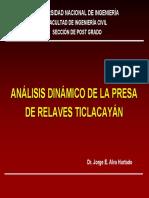 Análisis Dinámico Presa Ticlacayán