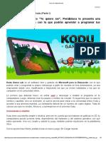 El Mundo de Kodu - Parte 1