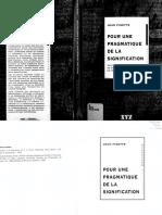Fisette - Pragmatique Signification
