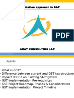 GST Solution Approach by Aray Consulting