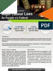 Major Labour Laws (for Punjab v/s Federal)