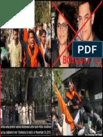 Aamir Protest by Hindu Sena