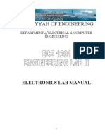 Electronics Lab Manual