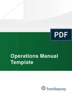 Restaurant OPS Manual TOC