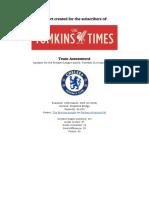 Team Assessment - Chelsea