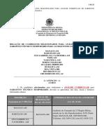004 Relao de Candidatos Selecionados Para a Anlise Curricular de Sargento Tcnico Temporrio - 2 Chamada