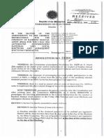 Random Manual Audit (COMELEC Resolution No. 10090)