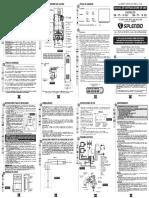 Manual de Uso Calefon Master 10 13l Tfi