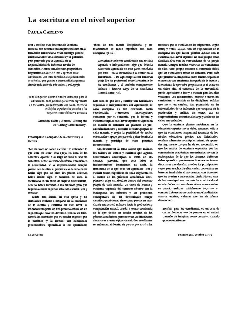 La escritura en el nivel superior.pdf