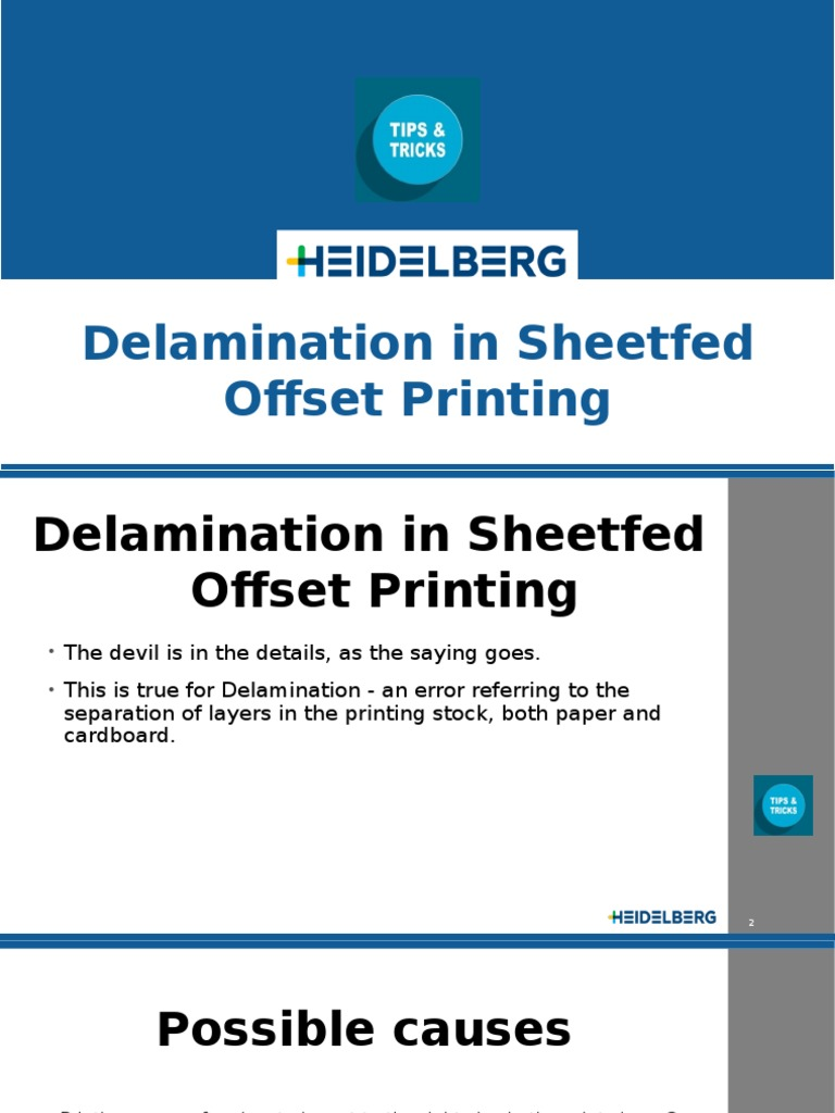 Delamination in sheetfed offset printing | Paper | Printing