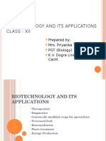 12. Biotechnology and Its Applications