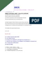 HVAC Precooled AHU Calculation
