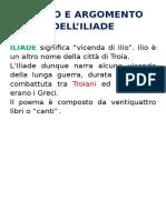 Riassunto elementare Iliade