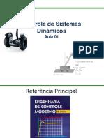 Controle de Sistemas Dinamicos - Aula I - Alunos.pdf