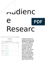 audiencee research