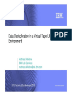Data Deduplication in a Virtual Tape Library Environment