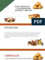 Tecnologia de Cereales Tuberculos y Leguminosas, Harinas, Almidones y Maltas. Panificacion Insumos Basicos, Procesos, Metodos