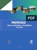 Protocolo para el monitoreo y seguimiento del agua