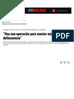 """""""Hay Una Operación Para Asociar Migraci...Incuencia"""" _ Página12 _ La Otra Mirada"""