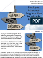 Employee Assistance Programs May Be Valuable Resources