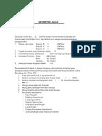 Perhitungan Geometrik Jalan Raya Format Xls