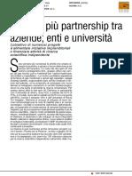 Sempre più partnership fra aziende, enti e università - Italia Oggi del 30 gennaio 2017