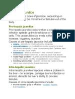 Types of Jaundice