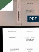 Domingo Muñoz Leon, Palabra y Gloria. Excursus en La Biblia y en La Literaturta Intertestamentaria